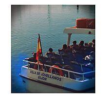 Barco de pasaje en Gijón Photographic Print