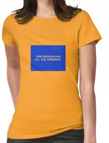 Game Show Winner Womens Fitted T-Shirt