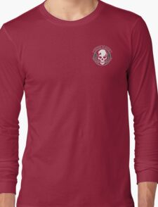 Metal Gear Solid - Outer Heaven (Gray, over heart, transparent) Long Sleeve T-Shirt
