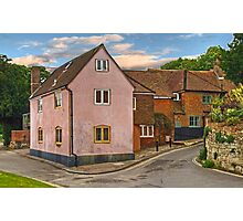 Cottages in Hamble-Le-Rice Photographic Print