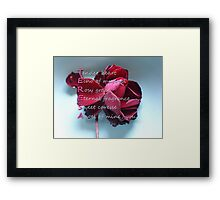 Card with Acrostic for Teresa Framed Print