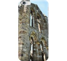 Looking up at Whitby Abbey iPhone Case/Skin