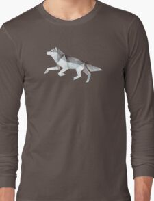 Low Poly Watercolor - Wolf Long Sleeve T-Shirt