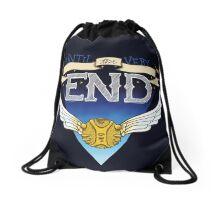 Until the very end Drawstring Bag