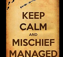 Keep Calm and Mischief Managed by Amantine
