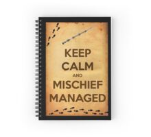 Keep Calm and Mischief Managed Spiral Notebook