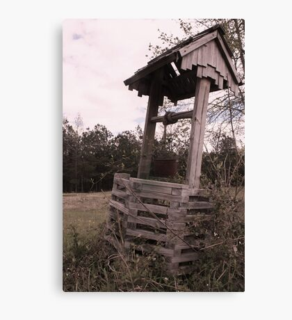 old timey well Canvas Print