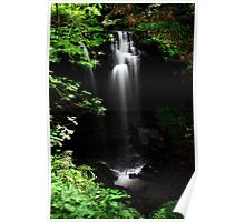 Scaling Beck waterfall Poster