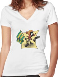 Marvin the Browncoat Women's Fitted V-Neck T-Shirt