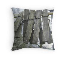 On the line Throw Pillow