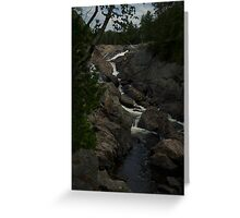 White Sands waterfall Northern Ontario Greeting Card