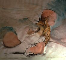 water colour and pencil, from a series of drawings by noel Bebee