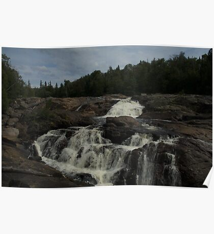 White Sands waterfall (2) Northern Ontario Poster