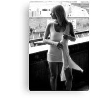 Little White Dress 013 Canvas Print