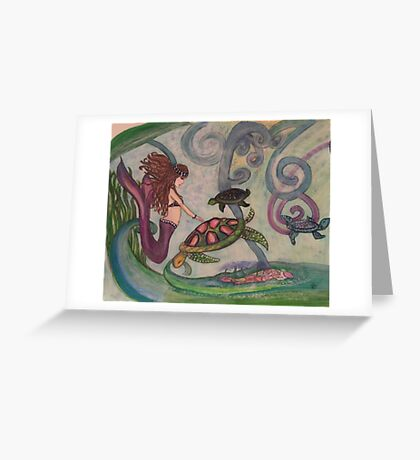 Violet Mermaid Greeting Card