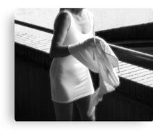 Little White Dress 014 Canvas Print
