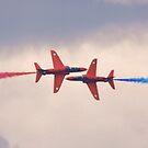 Red Arrows Pass by Nigel Bangert