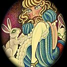 Alice and Rabbits at Rest by JacquelynsArt