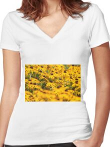 Daisy 5 Women's Fitted V-Neck T-Shirt