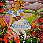 Alice Playing Croquet in the Queens Garden by JacquelynsArt