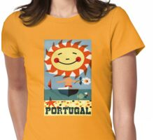 Portugal Vintage Travel Poster Restored Womens Fitted T-Shirt
