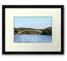 Approaching the Bridge, La Vilaine, Brittany, France Framed Print