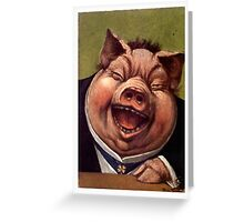 Pigs Funny Greeting Card