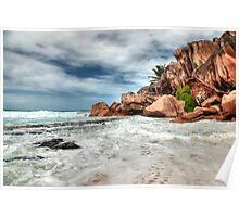 Anse Coco, La Digue island, Seychelles Poster