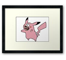 Courage VS Pikachu Framed Print