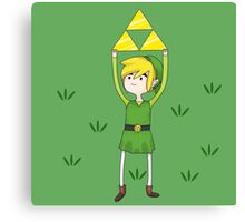 Triforce Link/Adventure Time Parody Mashup Canvas Print