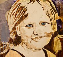 Portrait of a child , girl by Cecilie Hole