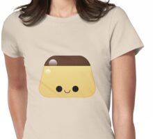 kawaii flan pudding Womens Fitted T-Shirt
