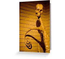 skull sculpture Greeting Card