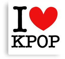 I LOVE KPOP Canvas Print