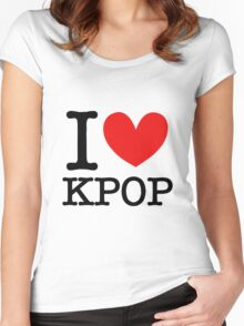 I LOVE KPOP Women's Fitted Scoop T-Shirt