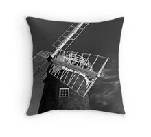 Horsey Windpump looking up B&W Throw Pillow