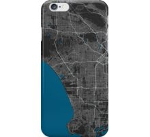Los Angeles city map black colour iPhone Case/Skin