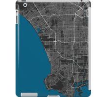 Los Angeles city map black colour iPad Case/Skin
