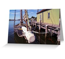 Looking Down The Bowsprit Greeting Card