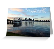 Perth harbour at sunset Greeting Card