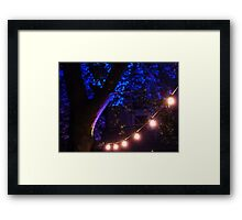 Blue lights Framed Print