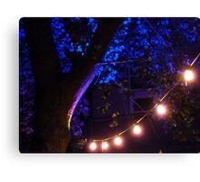 Blue lights Canvas Print