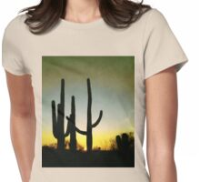 Saguaro Cactus near Tucson, Arizona Womens Fitted T-Shirt