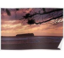 Cook Island Dawn Poster