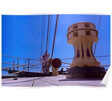 Tall Ship Bow Elements Poster