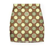 Vintage Retro Polkadot Brown Pattern Mini Skirt