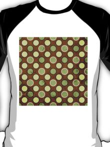 Vintage Retro Polkadot Brown Pattern T-Shirt