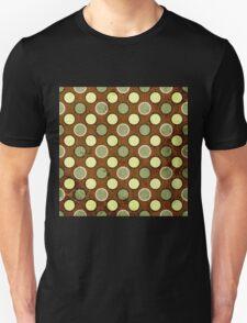 Vintage Retro Polkadot Brown Pattern Unisex T-Shirt