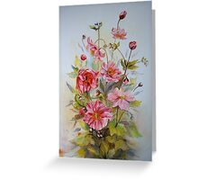 Iphone case Japanese anemones Greeting Card