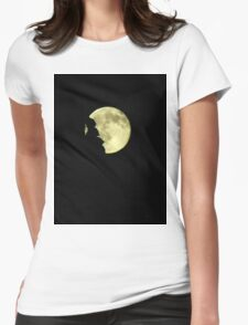 Moon over trees..Rockin' on a midnight....trick or treat Womens Fitted T-Shirt